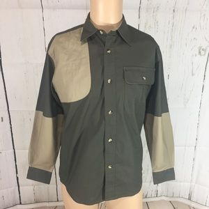Cabelas mens padded hunting button down sz L